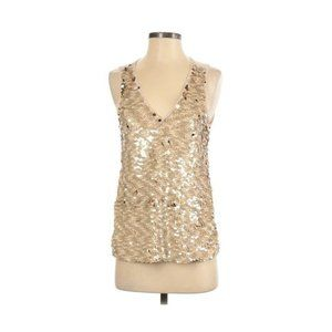 Lucy Paris Gold Nude Embellished Sequin Tank